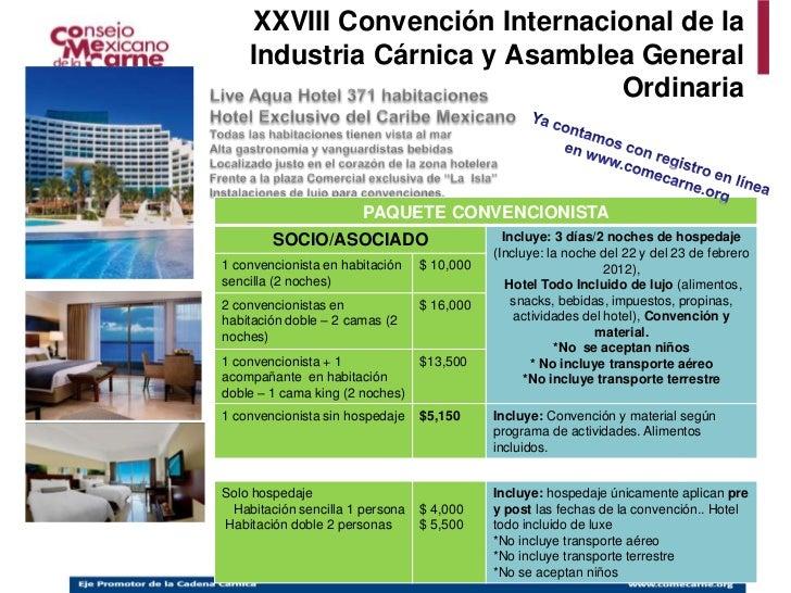 Costos de la convencion 2012
