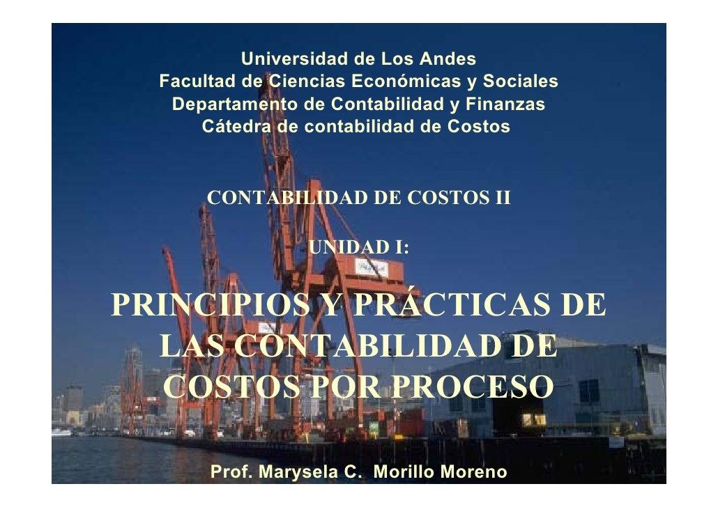 Universidad de Los Andes  Facultad de Ciencias Económicas y Sociales   Departamento de Contabilidad y Finanzas      Cátedr...