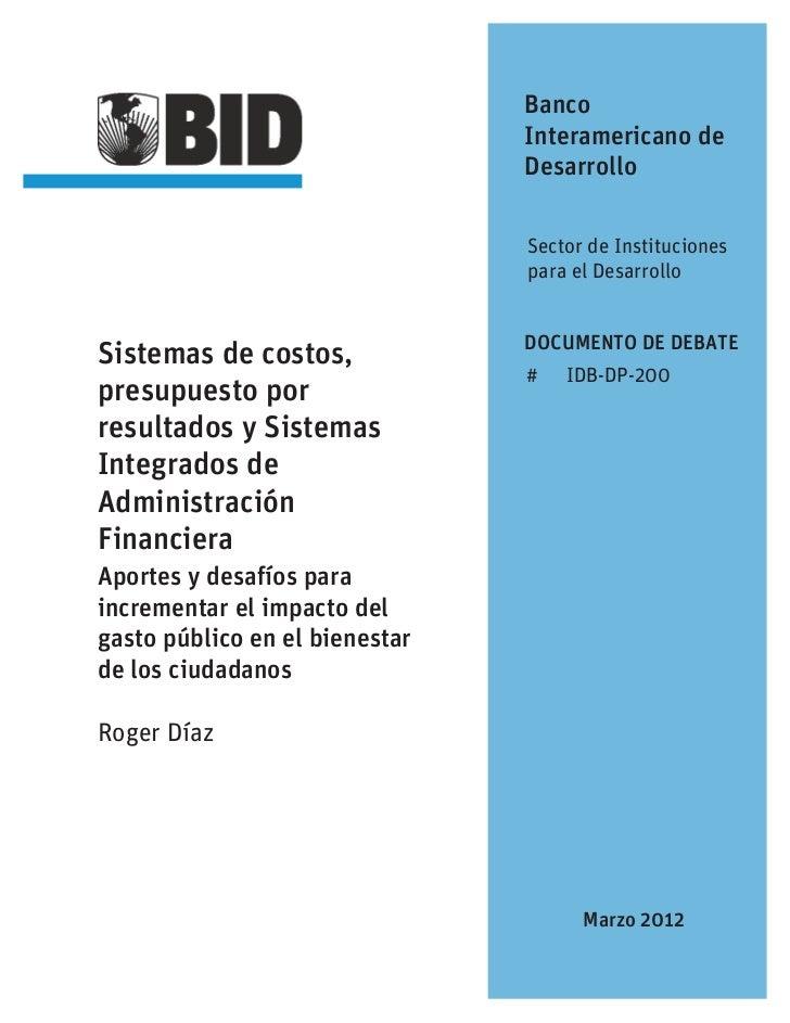 Banco                                Interamericano de                                Desarrollo                          ...