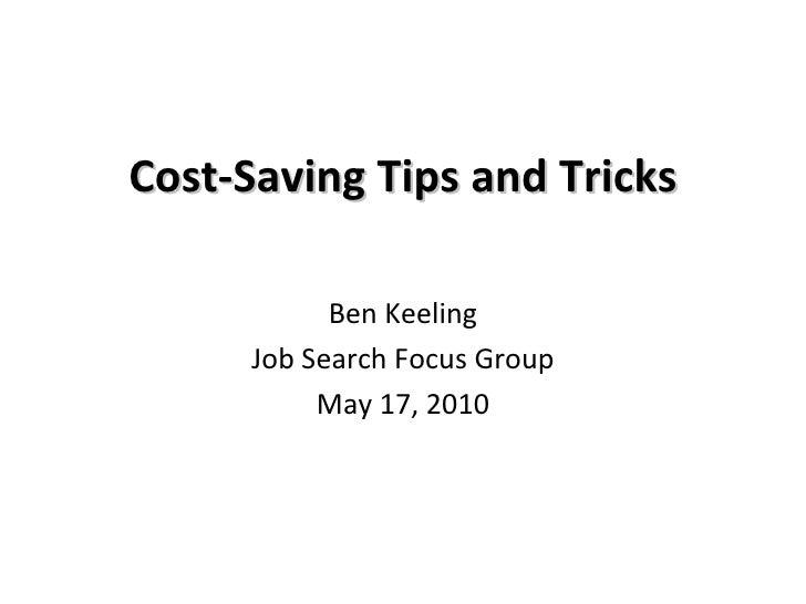 Cost Saving Tips And Tricks   Jsfg
