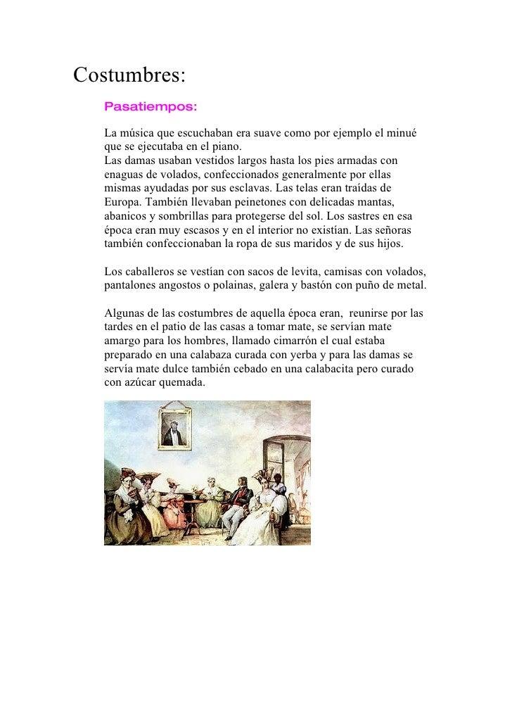ver la imagen de personajes típicos de la época 25 de mayo de 1810