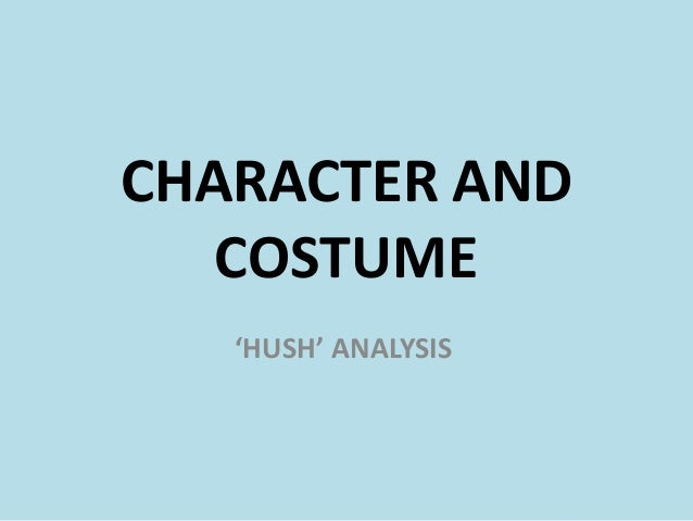 Character and costume