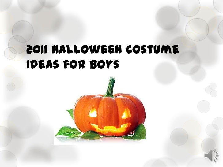 2011 Halloween CostumeIdeas for Boys