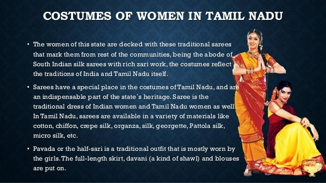 Costumes and textiles of tamil nadu