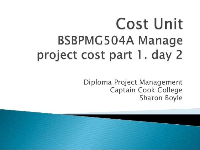 Cost unit 2013 part 1. 18 jan