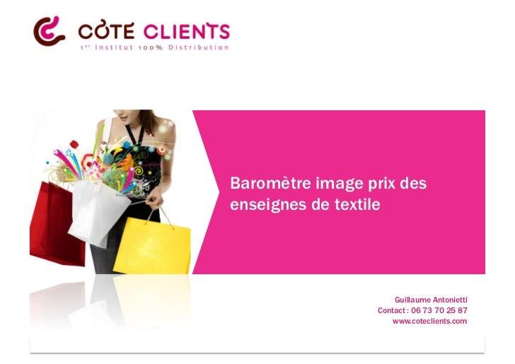 Baromètre image prix des                              enseignes de textile                                                ...