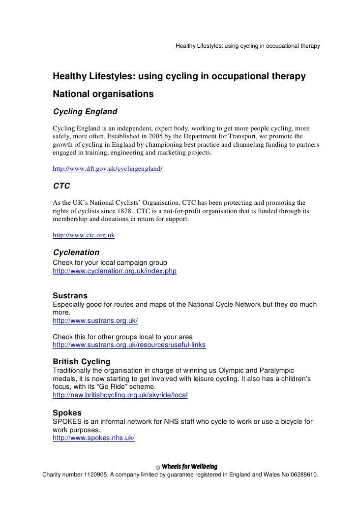 Cot Cycling Handout
