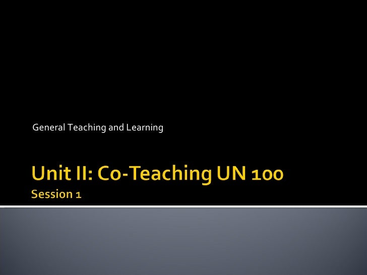 General Teaching and Learning