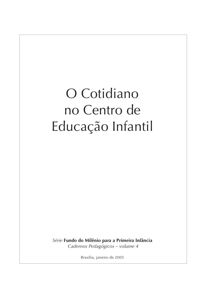 Cotidiano Na Educacao Infantil