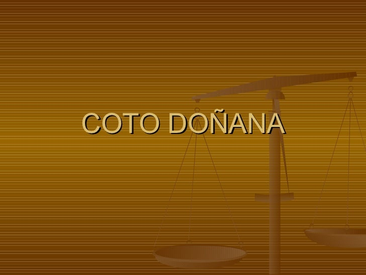 COTO DOÑANA