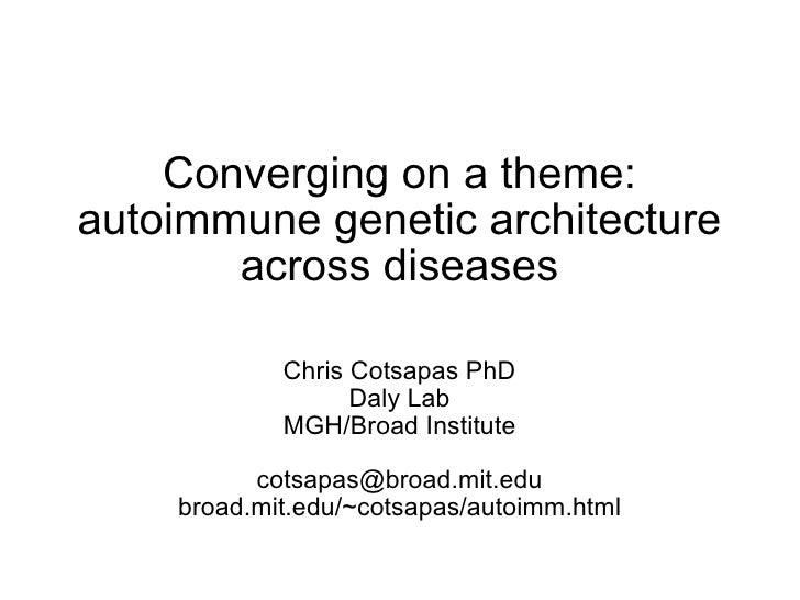 Common genetic association in autoimmune diseases