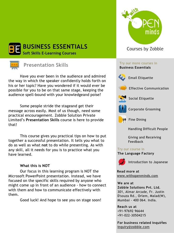 BUSINESS ESSENTIALS        Soft Skills E-Learning Courses                                                             Try ...