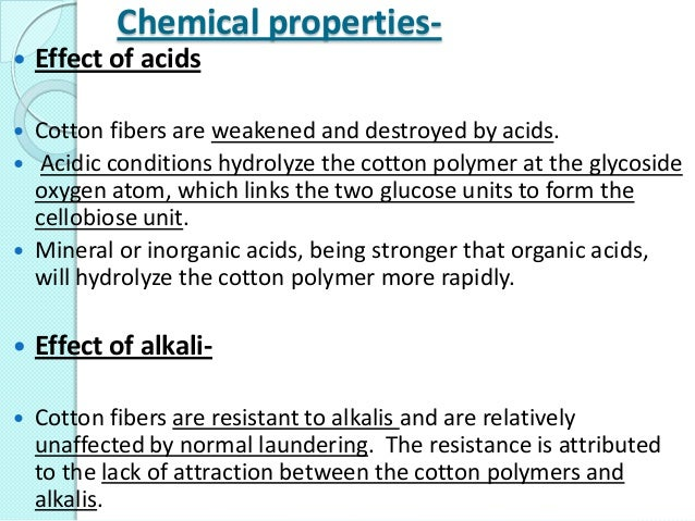 Who knows about chemicals in cotton ?
