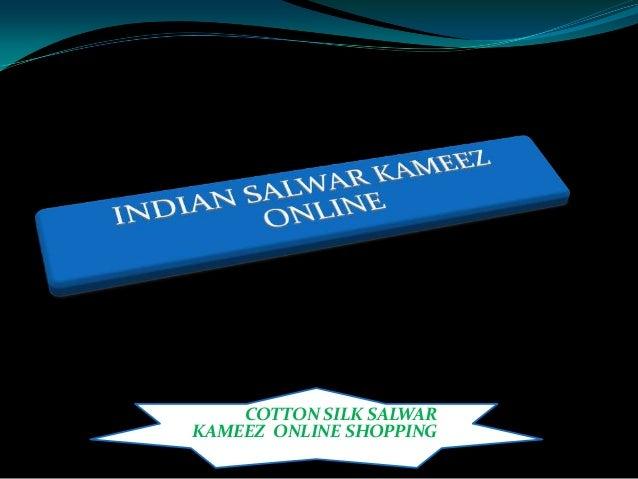 Cotton silk salwar kameez online