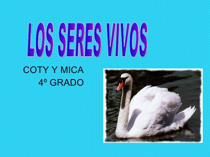 COTY Y MICA  4º GRADO LOS SERES VIVOS
