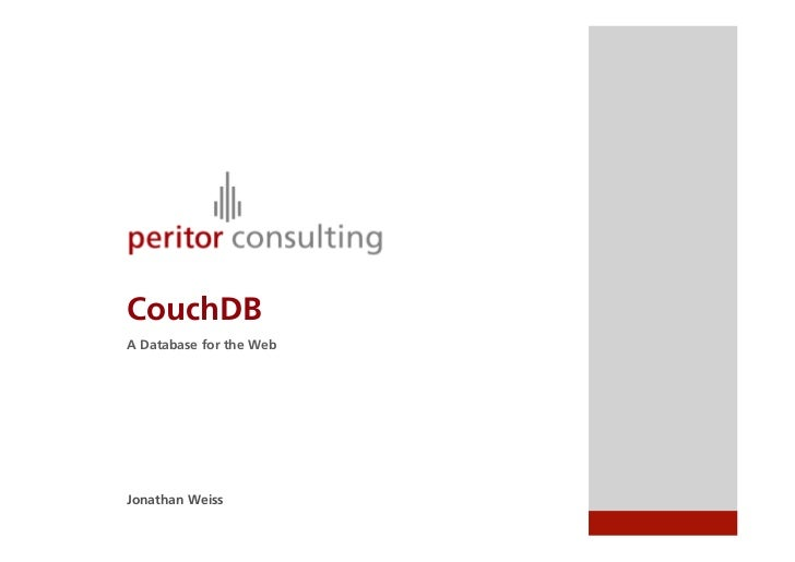NoSQL - An introduction to CouchDB