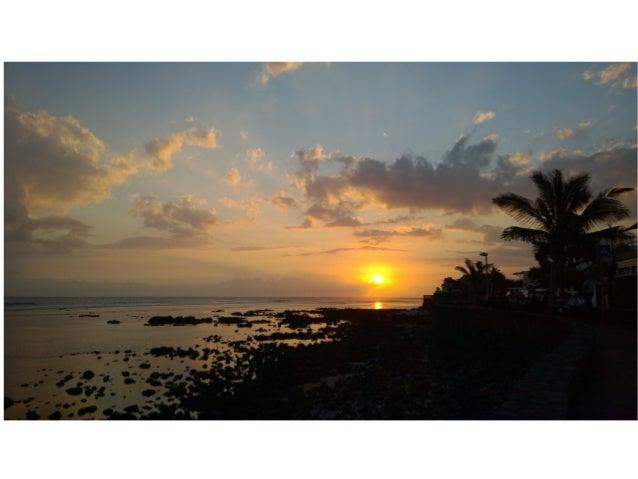 Couchers de soleil à la Réunion
