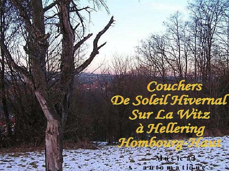Couchers De Soleil Hivernal Sur La Witz à Hellering Hombourg-Haut Musical automatique