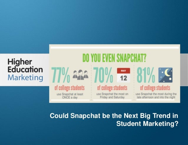 Could Snapchat be the Next Big Trend in Student Marketing? Slide 1 Could Snapchat be the Next Big Trend in Student Marketi...