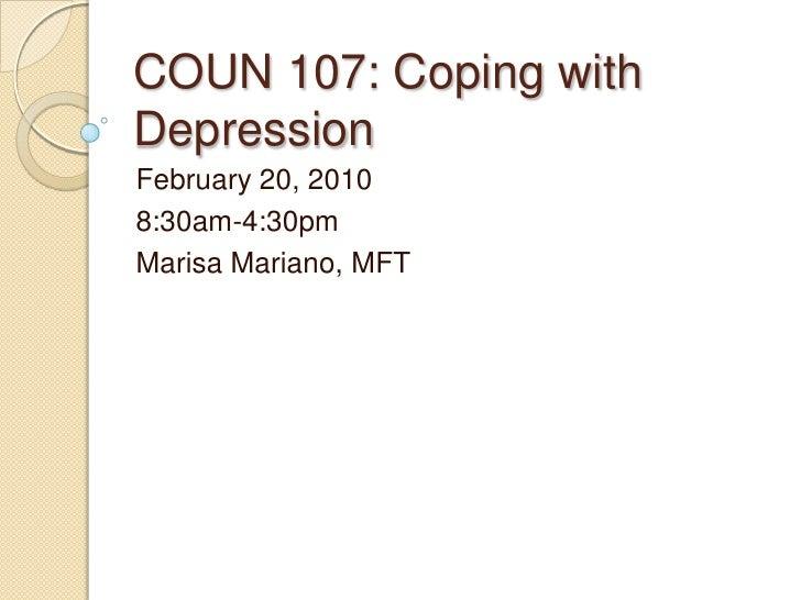 Coun 107 depression
