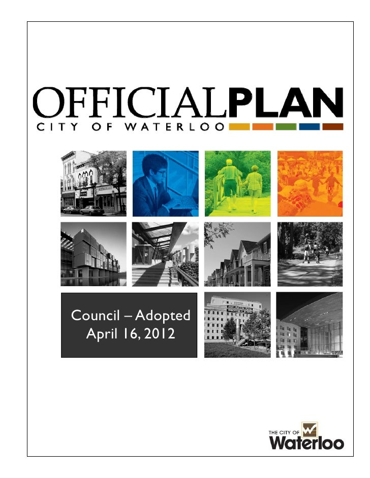 Council adopted op city of waterloo