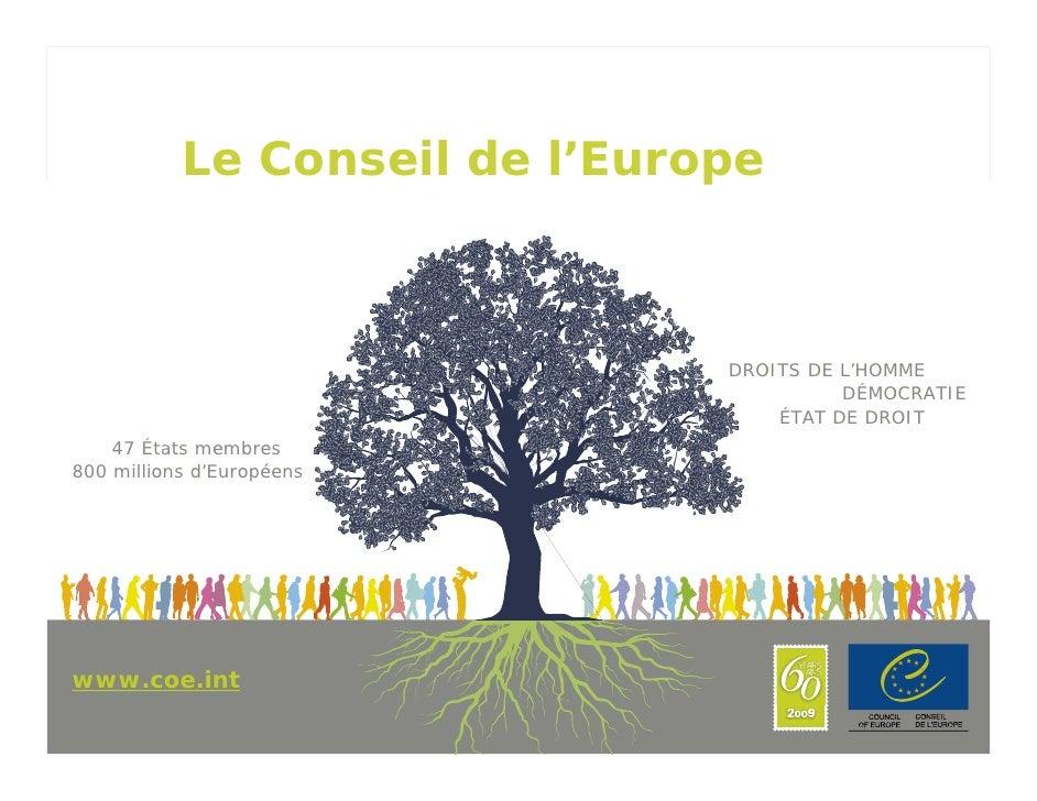 Le Conseil de l'Europe                                      DROITS DE L'HOMME                                             ...