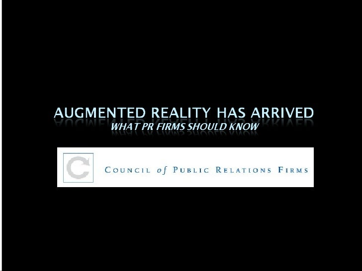 Augmented Reality Has Arrived: What PR Firms Should Know