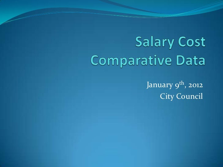 Salary Cost Comparative Data