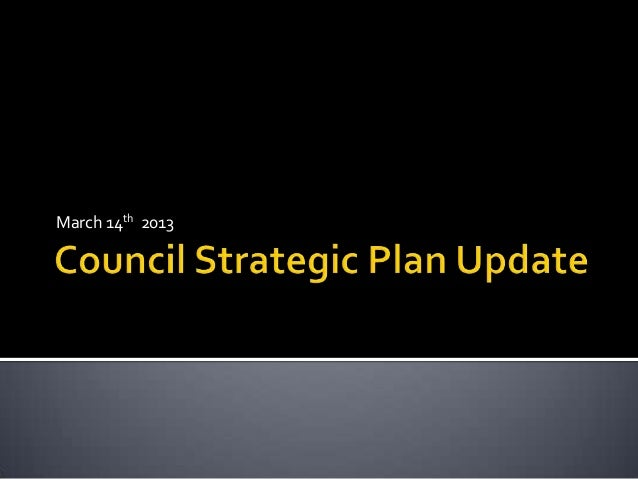 City Council Strategic Plan Update