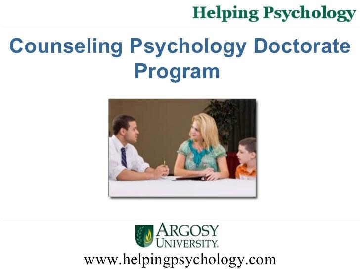 www.helpingpsychology.com Counseling Psychology Doctorate Program