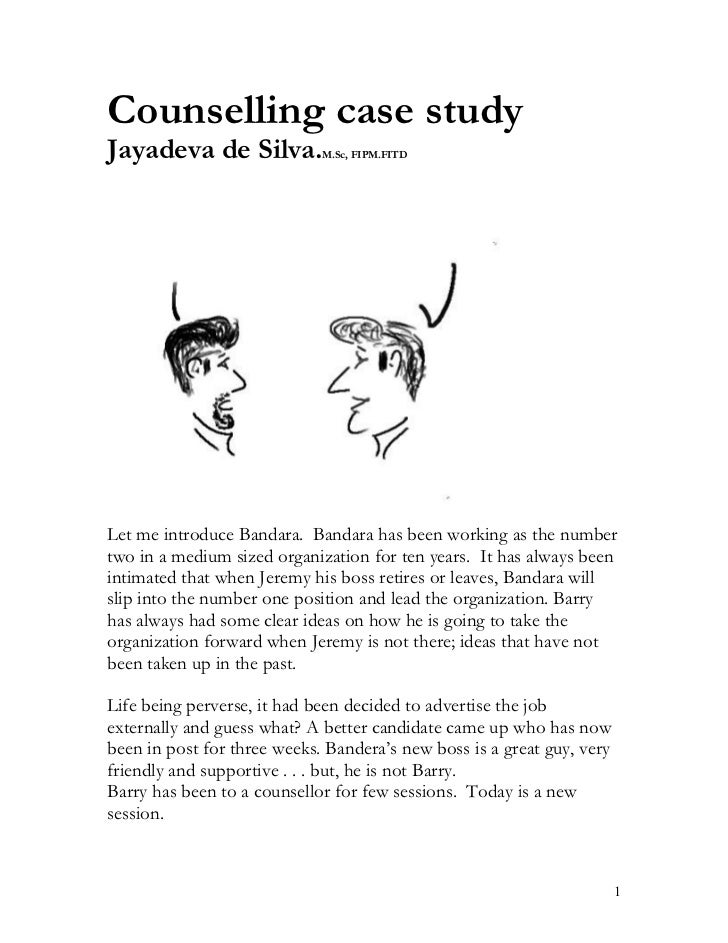 Counselling case study