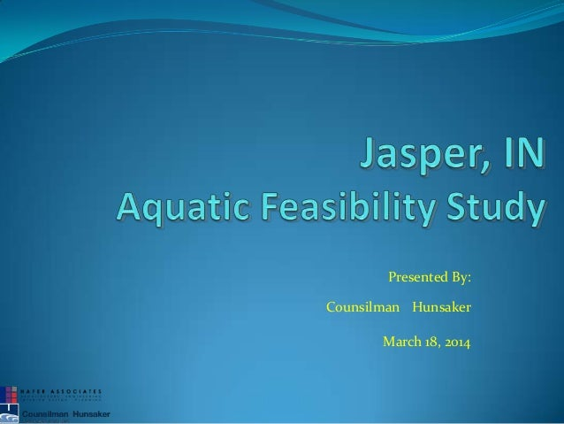 Counsilman hunsaker aquatic presentation