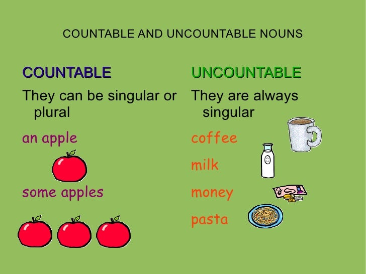 Countable And Uncountable Nouns on Numbers Worksheets