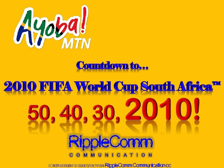 Countdown To The World Cup!