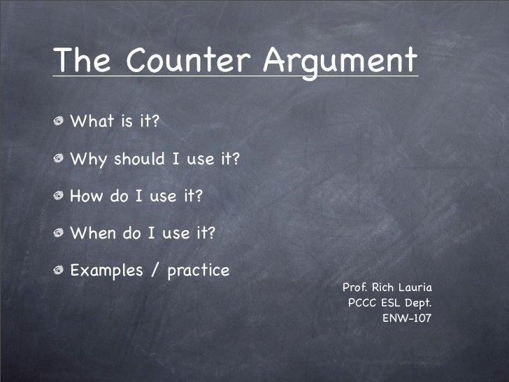 persuasive essays counter argument