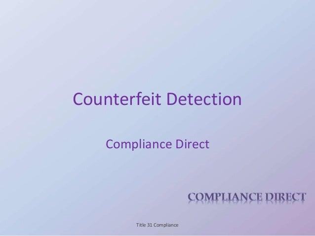 Counterfeit Presentation