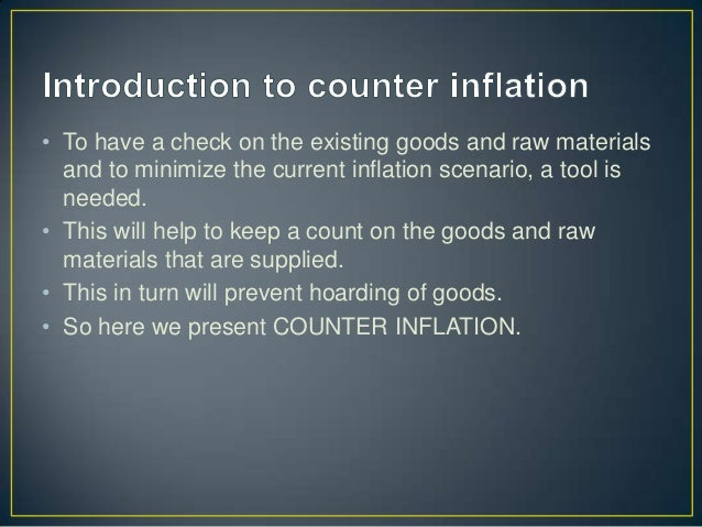 Counter inflation d finition what is for Couter definition