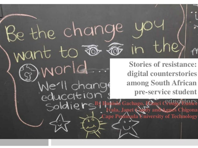 Stories of resistance: digital counterstorytelling among South African pre service teacher educators