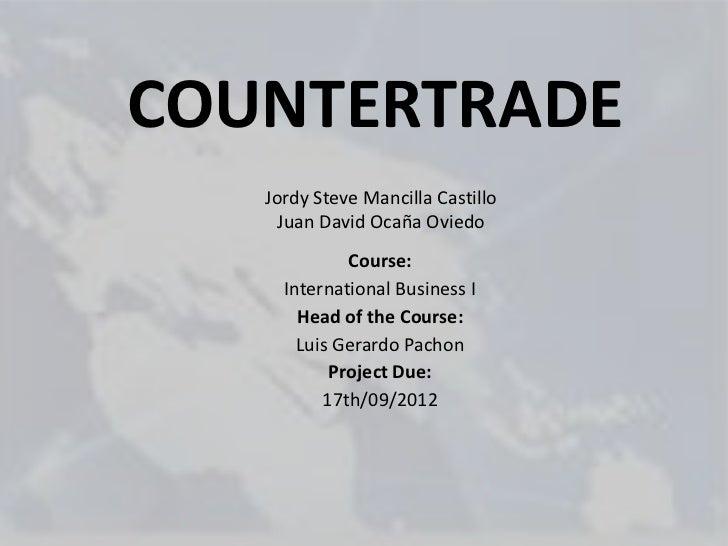 Countertrade slideshare