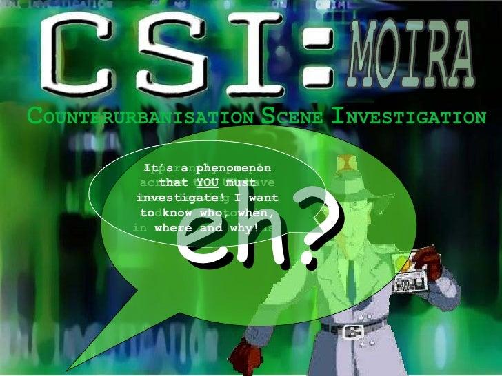 Counterurbanisation CSI