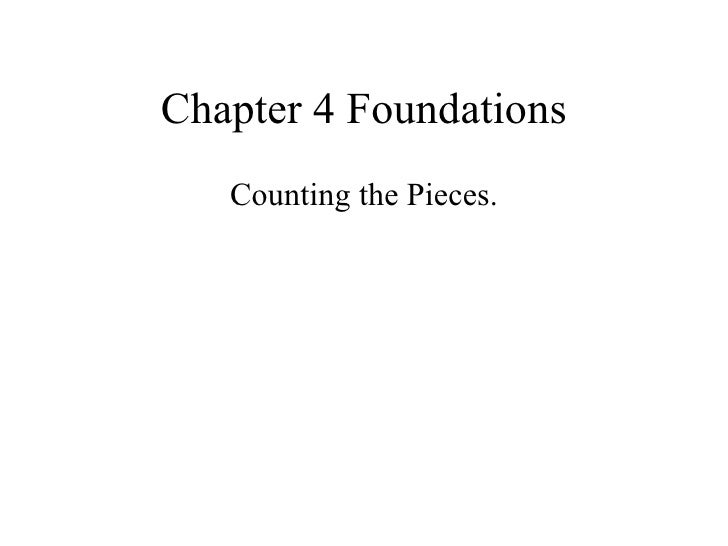 Counting pieces