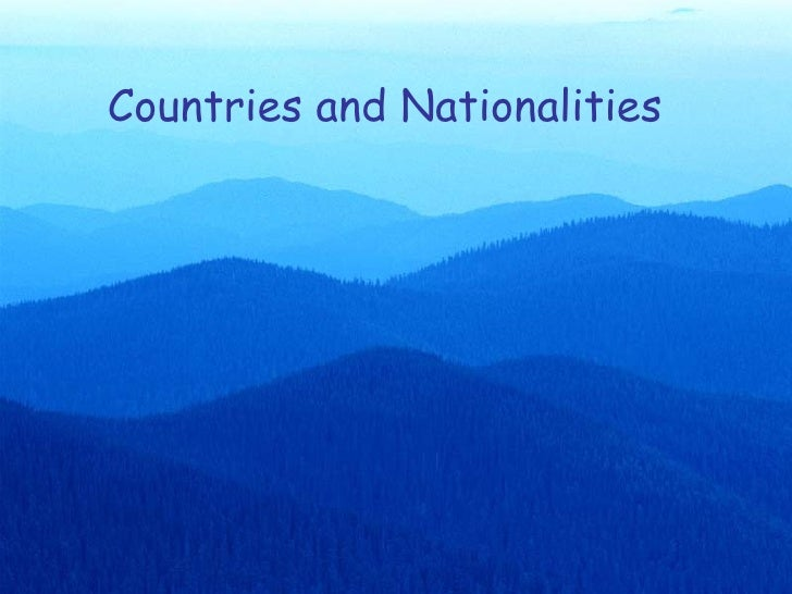 Countries And Nationalities   Eso