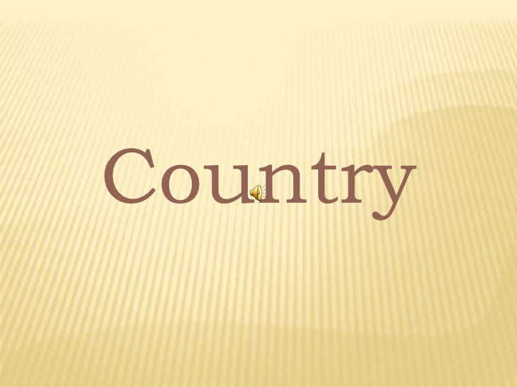 Country<br />