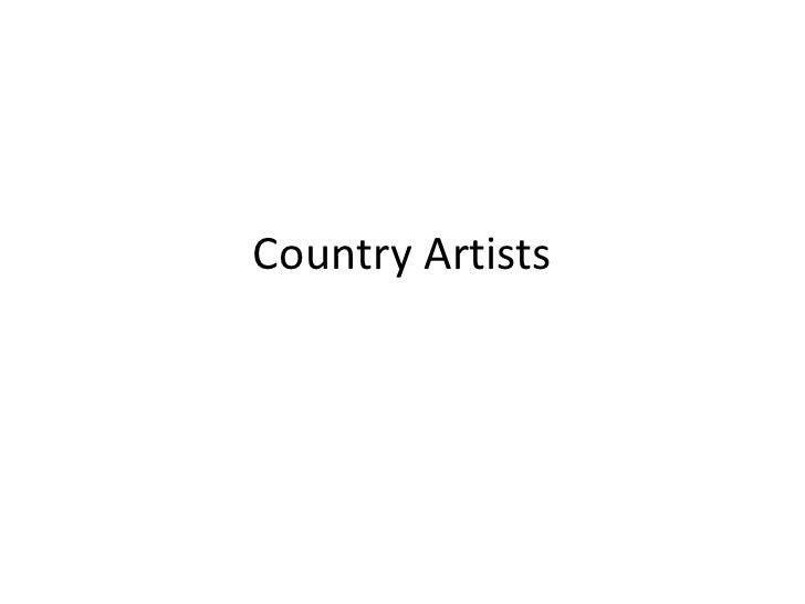 Country Artists<br />