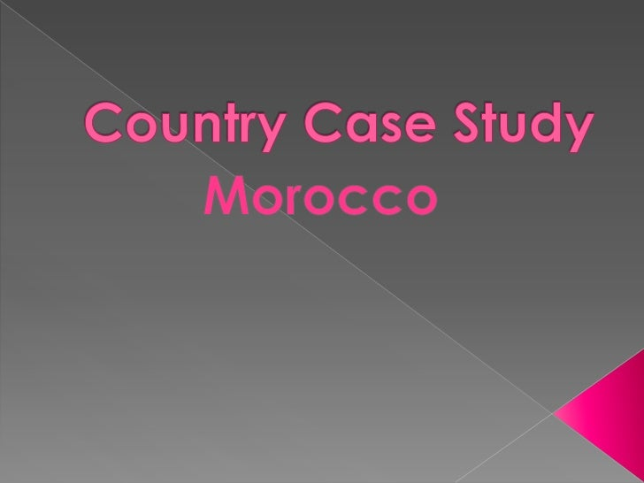 Country case study morocco