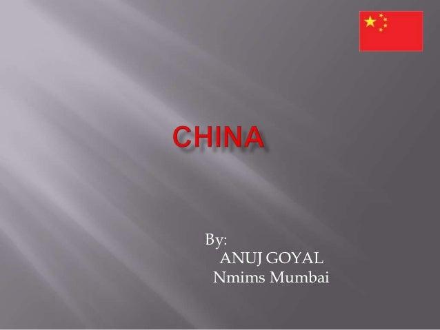Country presentation final china