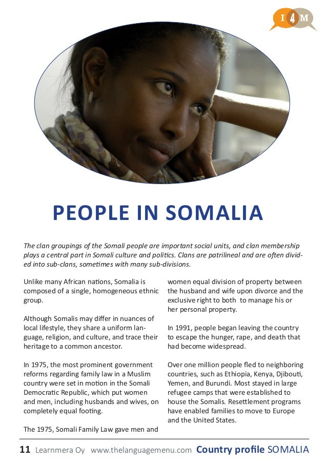 dating customs in somalia Somalia - daily life and social customs: the varied cultural life of the somali includes both traditional activities and, especially in the towns, many modern interests.