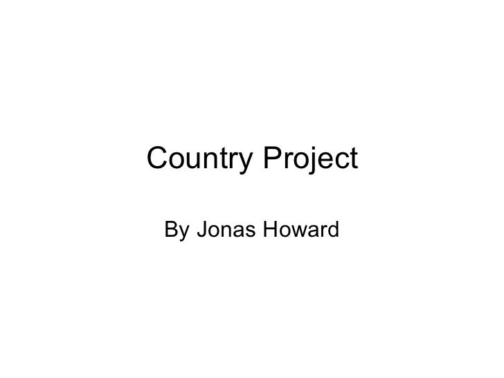 Country Project By Jonas Howard