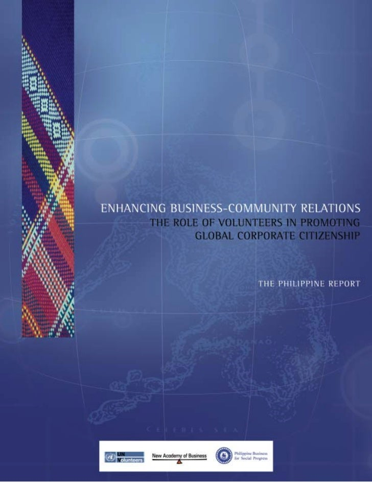 Enhancing Business Community Relations:The Role of Volunteers in Promoting Global Corporate CitizenshipPhilippine Business...