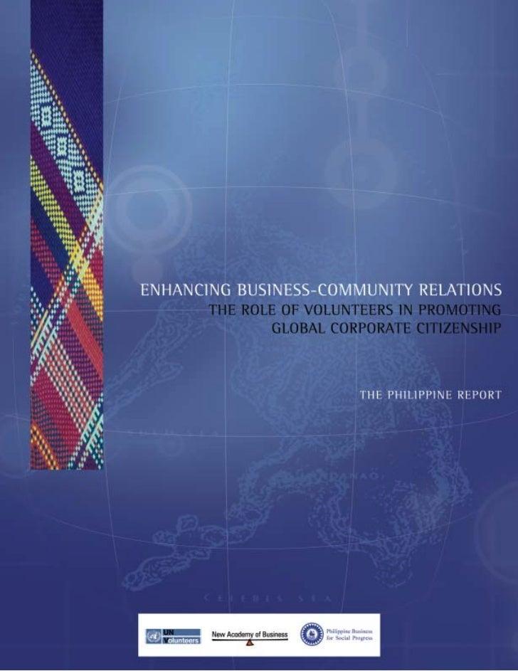 Enhansing Business-Community Relations